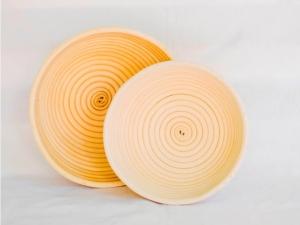 Корзина для расстойки теста из ротанга круглая, 1,5 кг