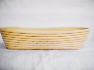 Корзина для расстойки теста из ротанга овальная, 0,350 кг