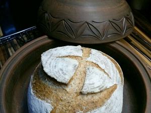 Форма для выпечки хлеба из красной глины 1,2 кг