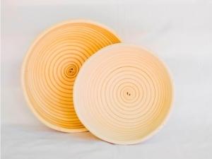 Корзина для расстойки теста из ротанга круглая 0.75 кг