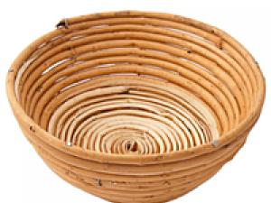 Корзина для расстойки теста из лозы круглая 0,6 кг