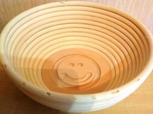 Корзина для расстойки теста из ротанга с гравировкой, 0,75 кг