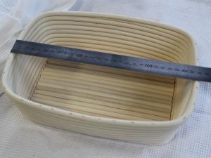 Корзина для расстойки теста из ротанга прямоугольная, 1 кг