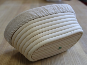 Корзина для расстойки теста из ротанга с льняным чехлом, 350г