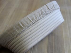 Корзина для расстойки теста из ротанга с льняным чехлом, 500г