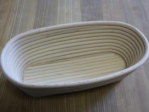 Корзина для расстойки теста из ротанга с льняным чехлом