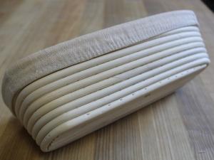 Корзина для расстойки теста из ротанга с льняным чехлом, 1кг
