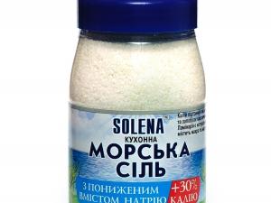 Соль морская + калий + ламинария 700 г ТМ SOLENA
