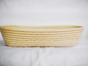 Корзина для расстойки теста из ротанга овальная 0,5 кг