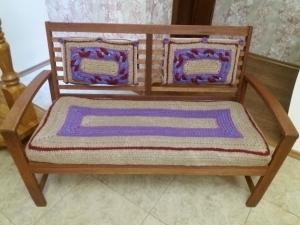Чехлы на мебель (комплект) из натуральной джутовой нити