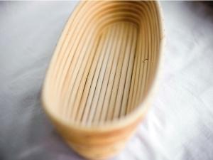 Корзина для расстойки теста из ротанга овальная 0,75 кг