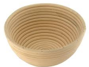 Корзина для расстойки теста из ротанга круглая 0,5 кг